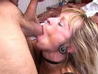 Mom gets throat fucked and jizzed