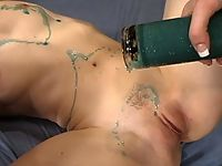 Bondage ass licking flogging hot wax and forced orgasms.