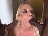 White whore can't get enough throat gagging action
