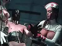 Latex madam humiliates stuped dude