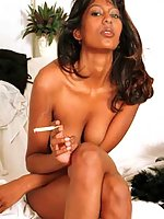 Sexy indian woman smoking