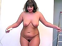 Perfect nude aerobics video starring hot woman