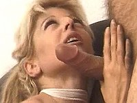 Naughty blonde does perfect blowjob