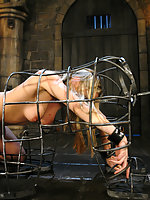 Harmony suspended from an upside down cross and fucked!