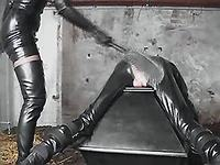 Slave dude get abused and spanked