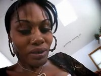 Hot ebony tranny fucking w black guy on the carpet