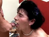 Grandma rides big cock and gets cum