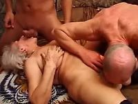 Old whore sucks cocks and licked