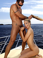 Blue eyes slim body and fucked on the boat