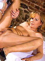 A horny czech mllf likes to suck young cock